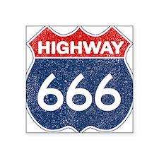 HIGHWAY 666 Square Sticker 3