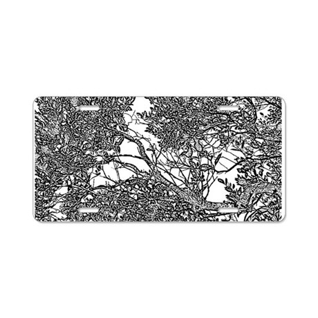 Tree Fable Aluminum License Plate