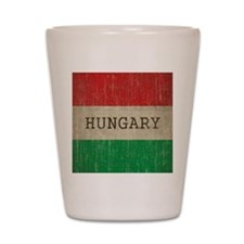 Vintage Hungary Flag Shot Glass