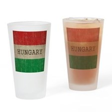 Vintage Hungary Flag Drinking Glass
