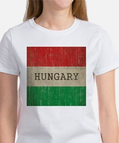 Vintage Hungary Flag Women's T-Shirt