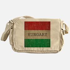 Vintage Hungary Flag Messenger Bag