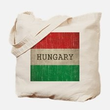 Vintage Hungary Flag Tote Bag