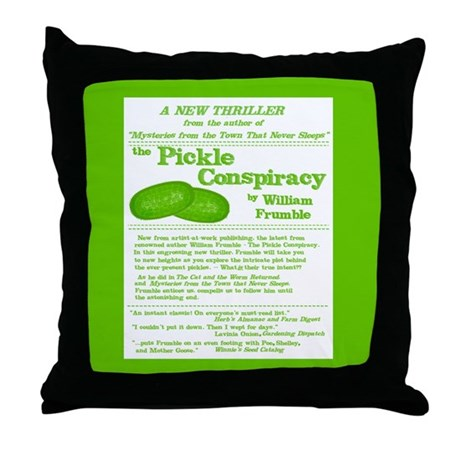 Pickle Conspiracy Throw Pillow