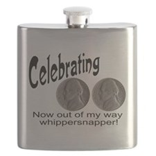 55 Birthday Whippersnapper Flask