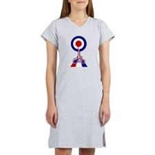 Mod Target Road with scooter Women's Nightshirt