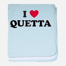 I Love Quetta baby blanket