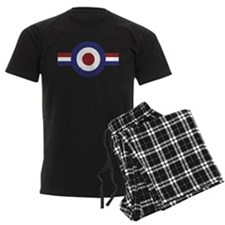 Aged Faded mod target and stripes Pajamas