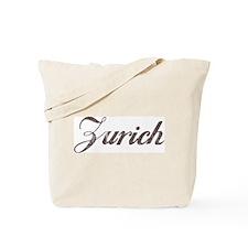 Vintage Zurich Tote Bag