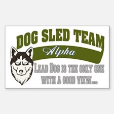 SLED DOG Rectangle Decal