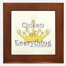 Queen of Everything Framed Tile