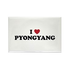 I Love Pyongyang Rectangle Magnet