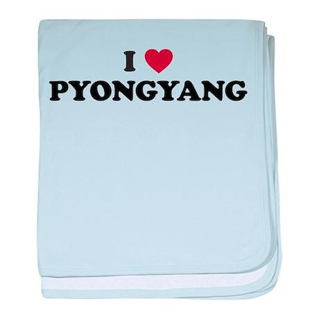 I Love Pyongyang baby blanket