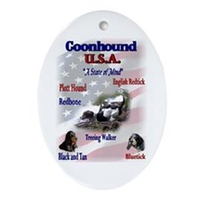 Coonhound Gifts Oval Ornament
