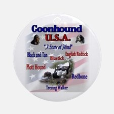 Coonhound Gifts Ornament (Round)