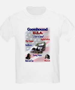Coonhound Gifts Kids T-Shirt