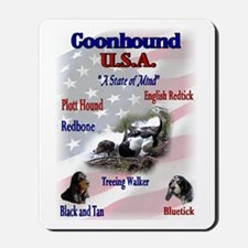 Coonhound Gifts Mousepad