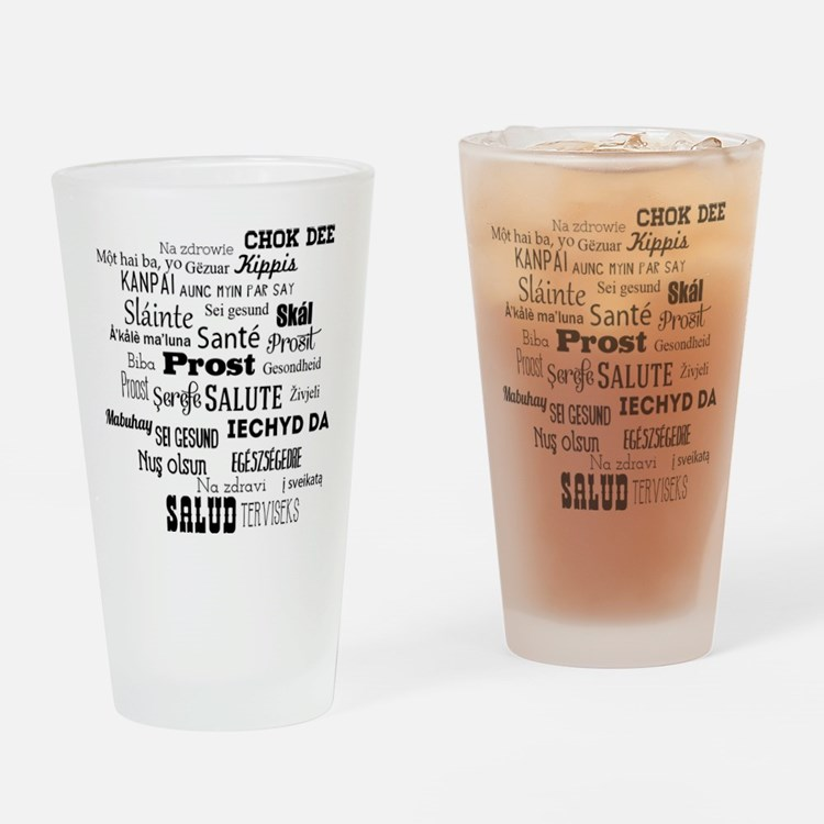 Toasts From Around The World Drinking Glass