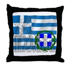 Silky Flag of Ellada Throw Pillow