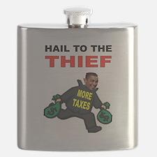OBAMA THIEF Flask