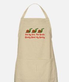 Snails Slowly Steal My Sanity Apron