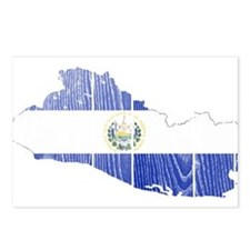 El Salvador Flag And Map Postcards (Package of 8)