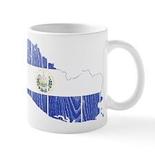 El Salvador Flag And Map Mug