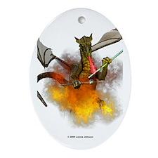 Cute Beading Oval Ornament