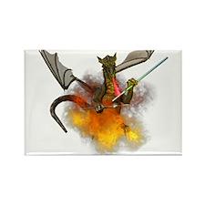 Cute Dragon art Rectangle Magnet