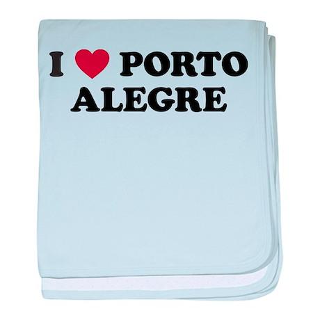 I Love Porto Alegre baby blanket