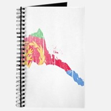 Eritrea Flag And Map Journal