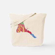 Eritrea Flag And Map Tote Bag
