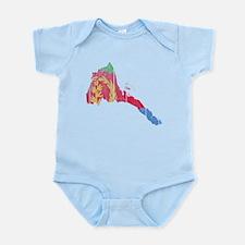 Eritrea Flag And Map Infant Bodysuit