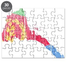 Eritrea Flag And Map Puzzle