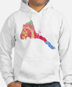 Eritrea Flag And Map Hoodie