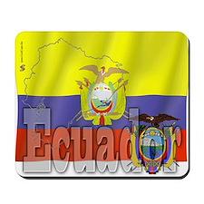Silky Flag of Ecuador Mousepad