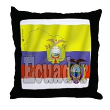 Silky Flag of Ecuador Throw Pillow