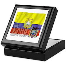 Silky Flag of Ecuador Keepsake Box