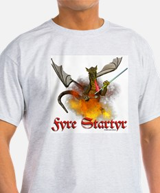 "Dragon Lampworker - ""Fyre Sta Ash Grey T-Shirt"