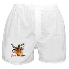 "Dragon Lampworker - ""Fyre Sta Boxer Shorts"