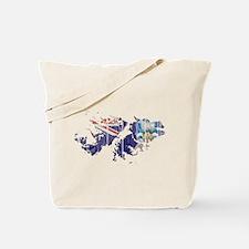 Falkland Islands Flag And Map Tote Bag