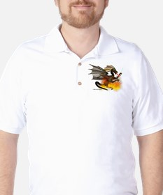 Dragon Lampworker - Side View Golf Shirt