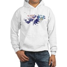 Falkland Islands Flag And Map Hoodie