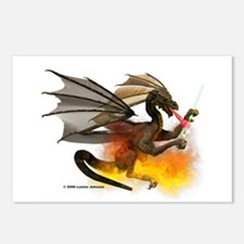 Dragon Lampworker - Side View Postcards (Package o