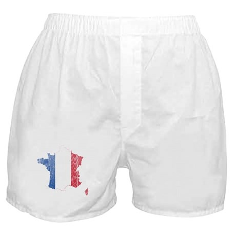 France Flag And Map Boxer Shorts