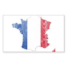 France Flag And Map Decal