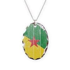 French Guiana Flag And Map Necklace