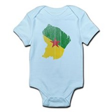 French Guiana Flag And Map Infant Bodysuit