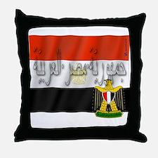 Silky Flag of Egypt (Arab) Throw Pillow