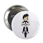 """Mod Girl on Scooter 2.25"""" Button (10 pack)"""